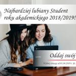 Wyniki wyborów na najbardziej lubianego studenta i nauczyciela roku akademickiego 2018/2019
