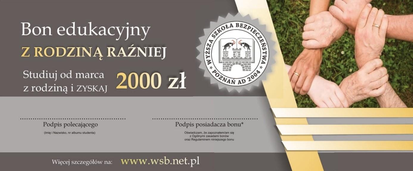 Bon edukacyjny z rodziną raźniej - studia WSB