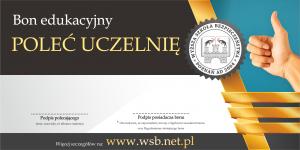 Bon edukacyjny - poleć uczelnię 2020 studia od marca