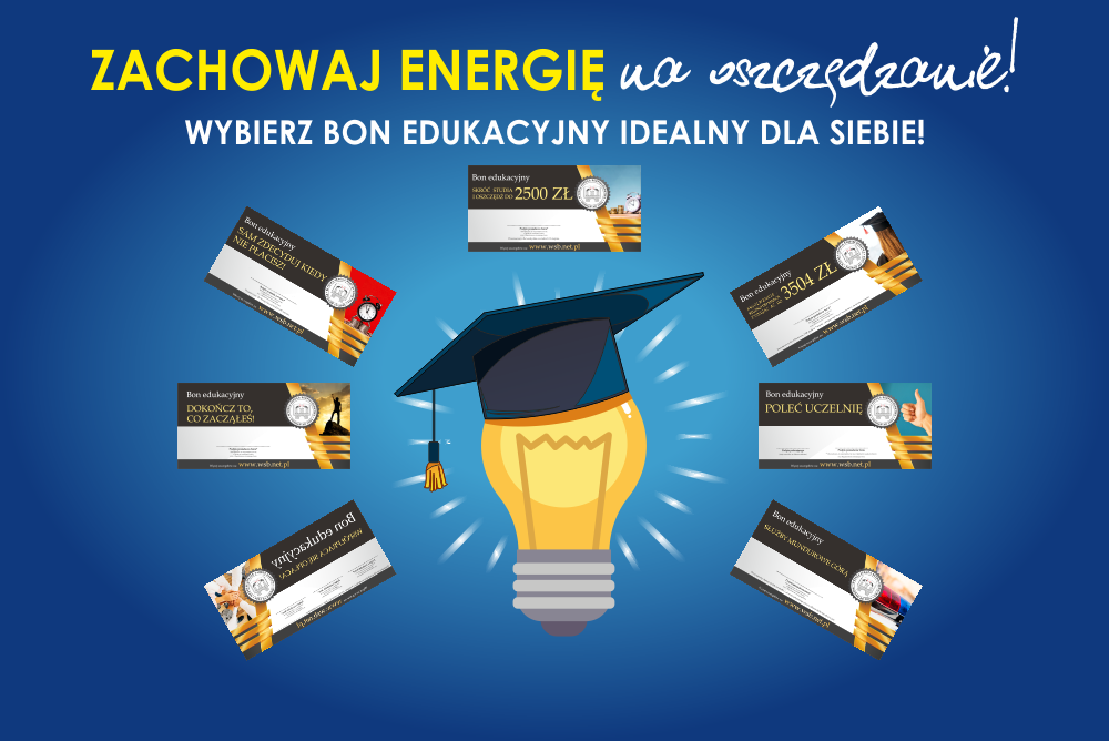 Zachowaj energię na oszczędzanie! Bony w Wyższej Szkole Bezpieczeństwa - studia od marca
