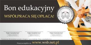 Bon edukacyjny - współpraca się opłaca 2020 studia od marca