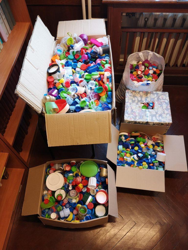 WSS Gdańsk organizowano zbiórkę plastikowych nakrętek